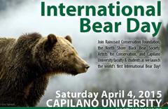 Capilano University International Bear day poster