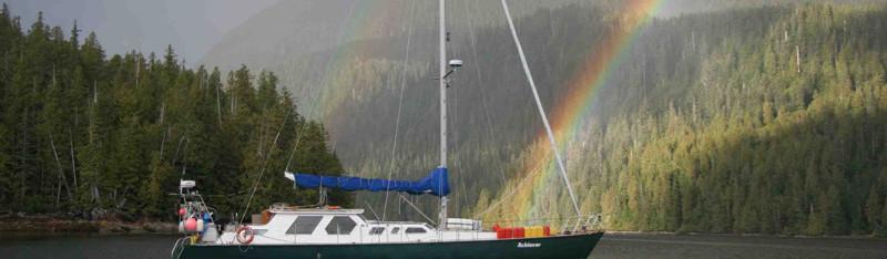 Achiever in rainbow