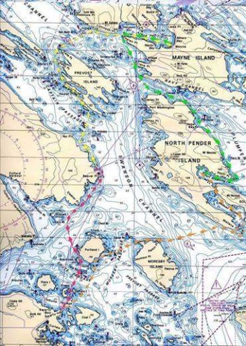 Turning the tide route map - Dan Collins