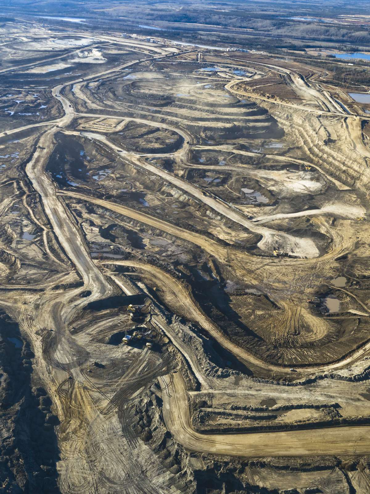 Aerial view of the tar sands.