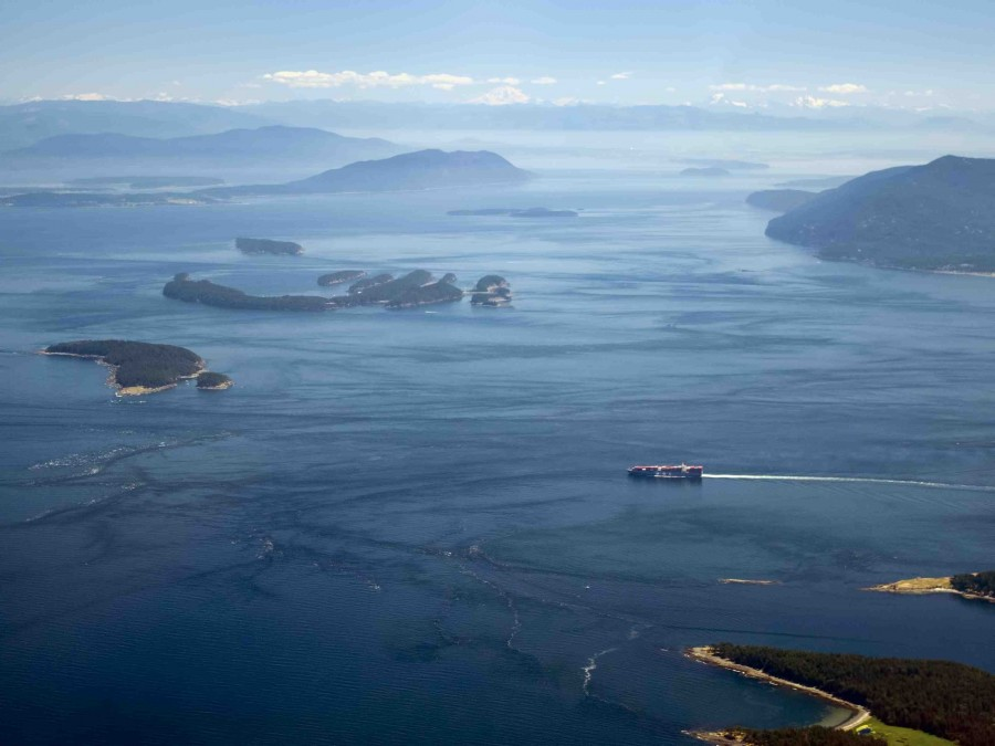 Aerial photograph of the Salish Sea