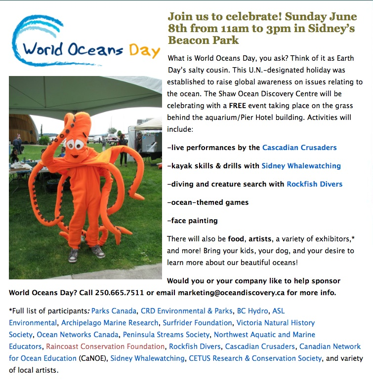 Oceans day at Shaw Discovery Centre