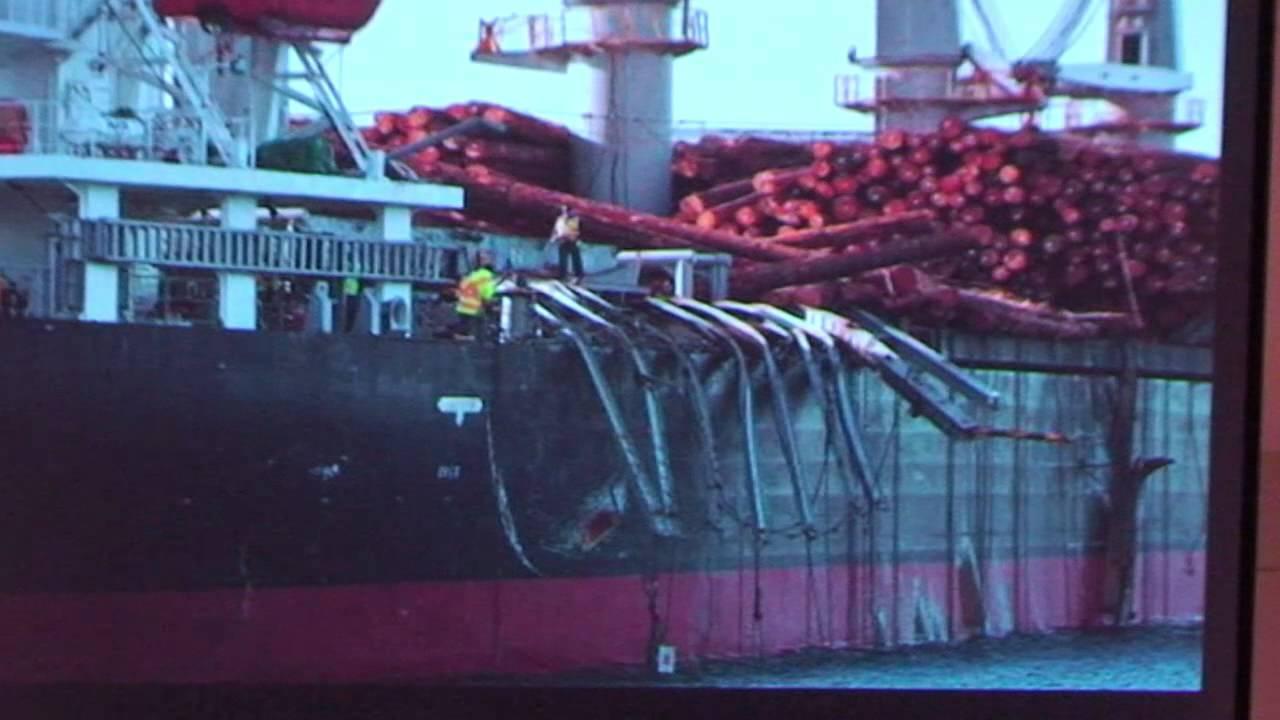 a large oil tanker