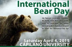 Capilano University International Bear day poster