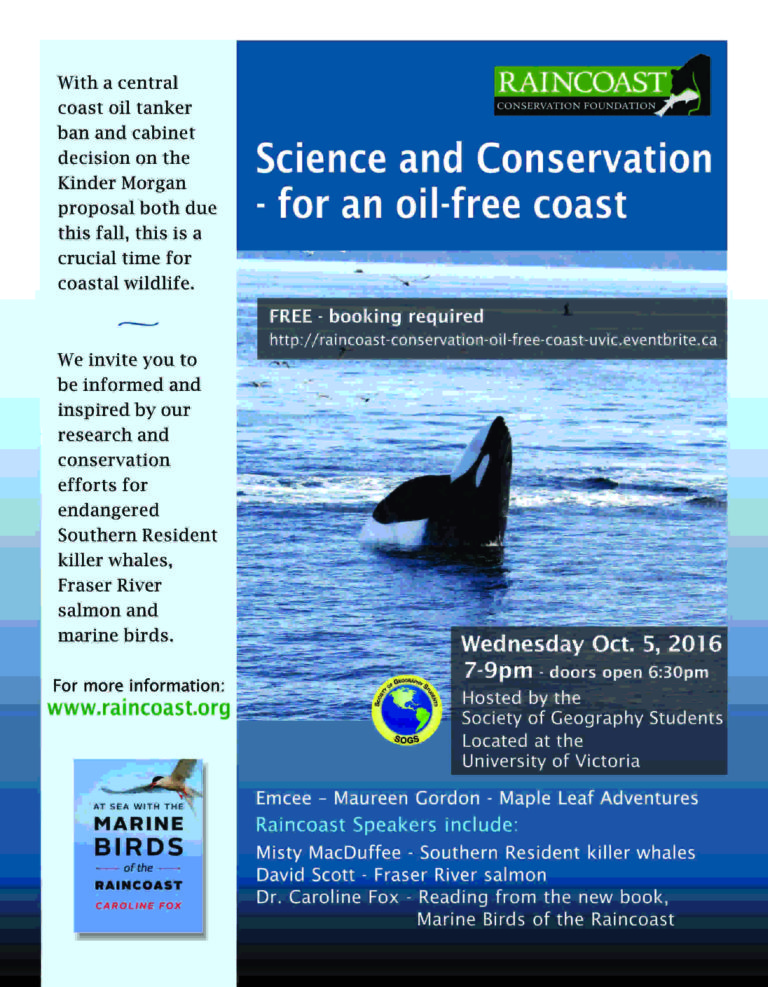 Science & conservation for an oil free coast – UVic