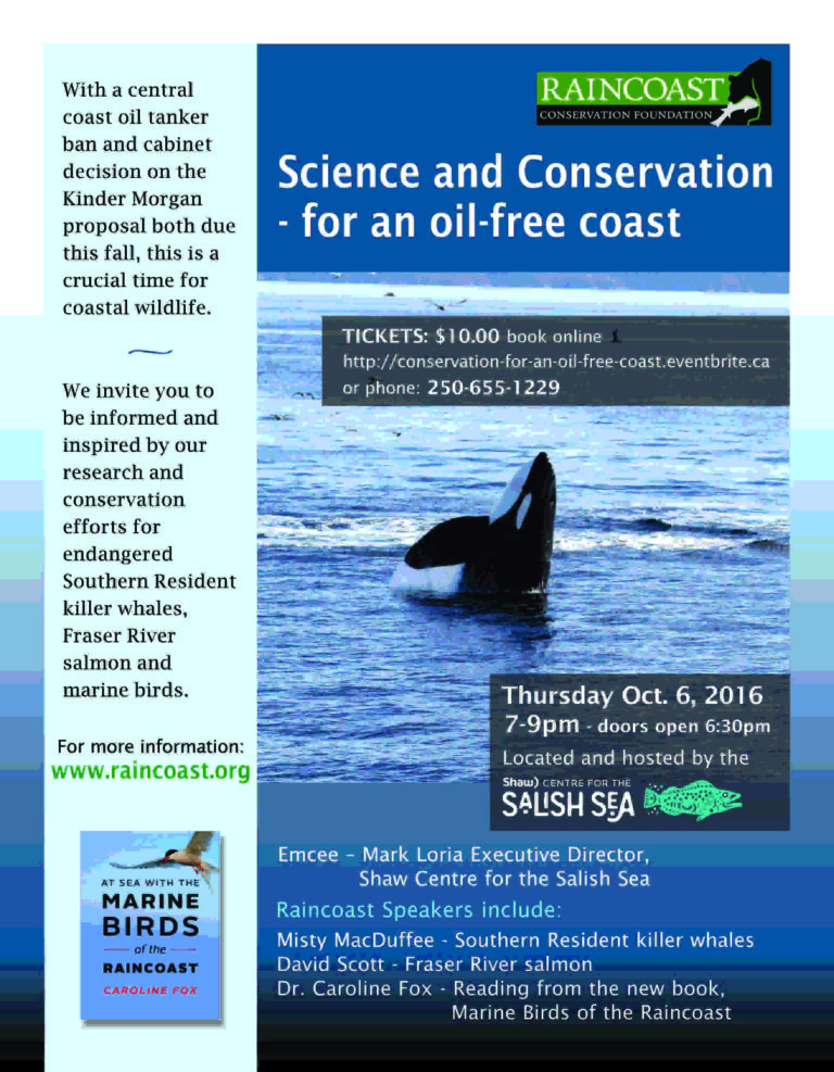 Science & conservation for an oil free coast – Sidney Shaw Centre