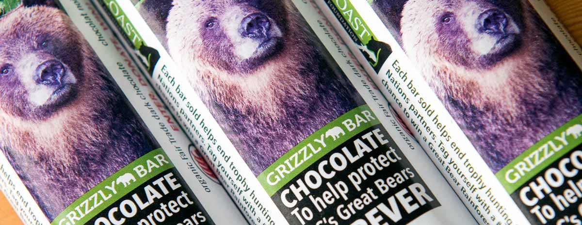 Grizzly Bar: Chocolate to help protect the Great Bears Forever