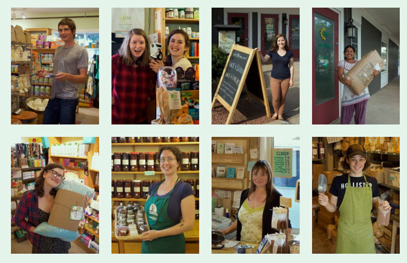 The team Eos Natural Foods in Wolfville Nova Scotia.