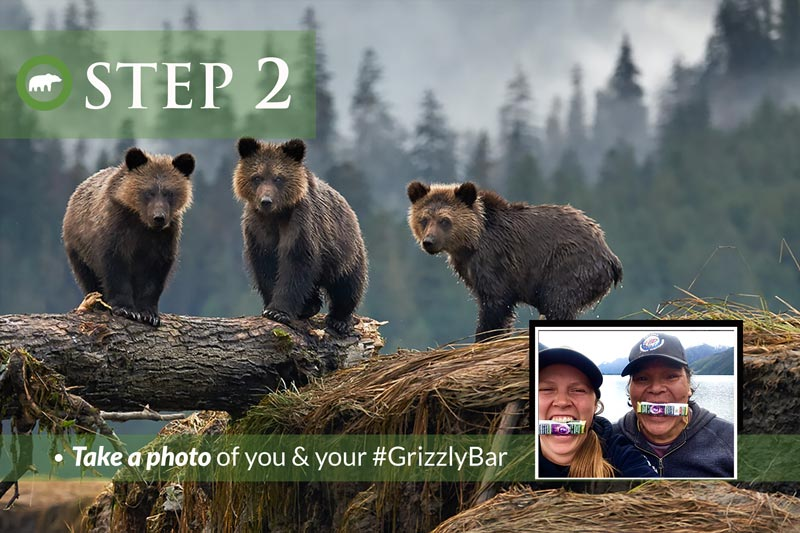 Take a photo of you and your Grizzly Bar