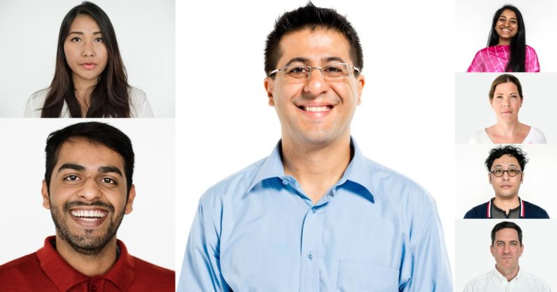 A collection of portraits of professional people.