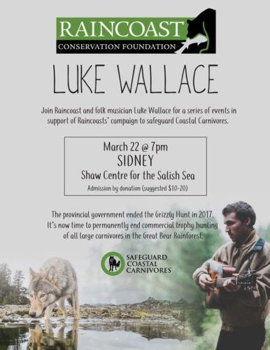 Event poster for Luke Wallace in Sidney
