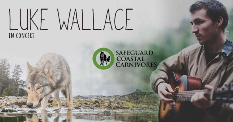 Luke Wallace events coming up in Tofino and sidney on behalf of Safeguard Coastal Carnivores campaign.