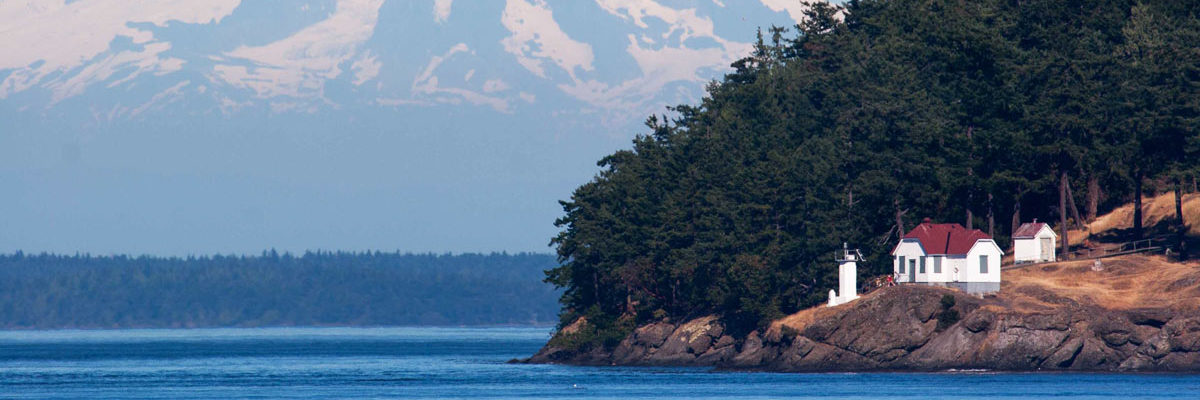 A clear day at Turn Point, on the Salish Sea.