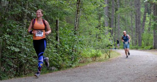 Baylee runs in the XTERRA Victoria Trail Run