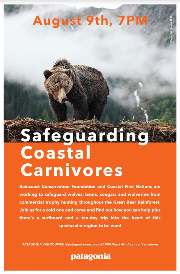 Safeguard Coastal Carnivores with Patagonia and Raincoast