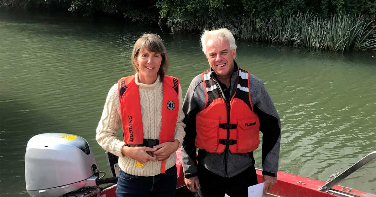 Misty MacDuffee and Bob McDonald on the Fraser River.