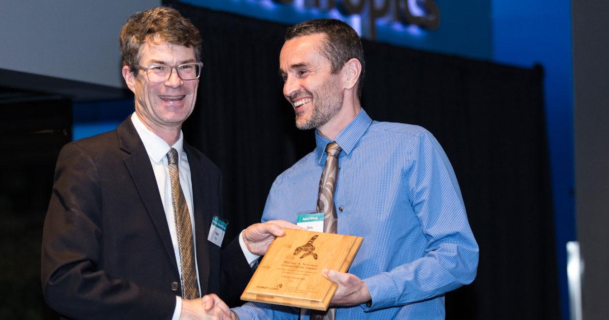 Peter Ross and Chris Darimont at the Ocean Awards.