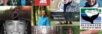 A collage of faces and supporters who have done peer to peer fundraising on behalf of Raincoast Conservation Foundation.