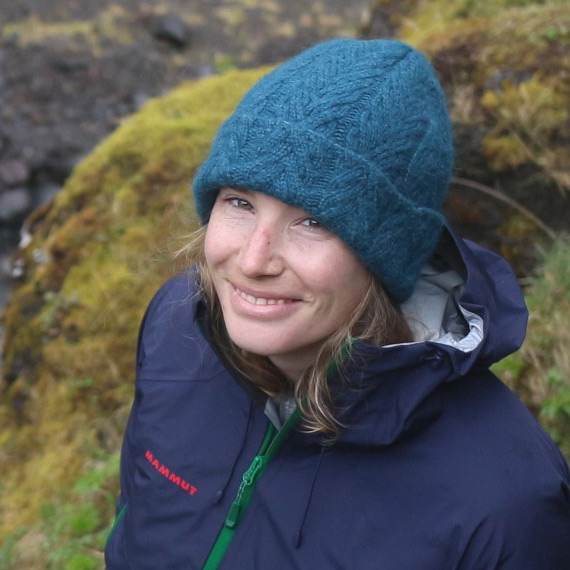 Lauren Duboisset-Broust in a blue toque having a smile.